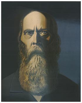 М.Е. Салтыков – Щедрин | цв. линогравюра 46х34