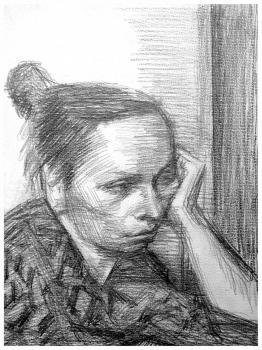 Портрет | бумага, карандаш 35х27