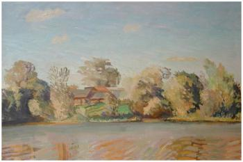 Вид с реки | холст, масло 60Х90