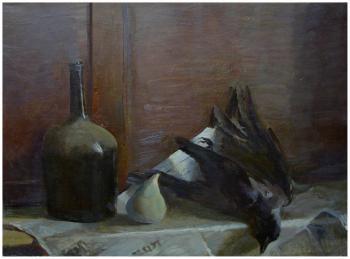 Натюрморт с вороной | холст, масло 60Х80