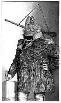 Подполковник Прыщ | офорт, акватинта