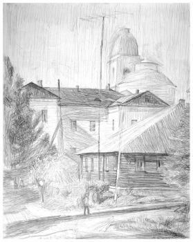 Город Мышкин | бумага, карандаш 50х32