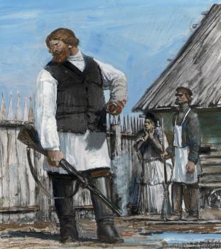 «Жизнь Матвея Кожемякина» илл. | гуашь