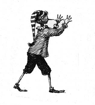 «Буратино» иллюстрация | тушь, перо
