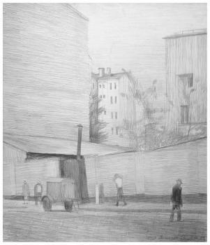 Арбатский переулок | бумага, карандаш 53х45