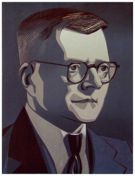 Д.Д. Шостакович | цв. линогравюра  43х33
